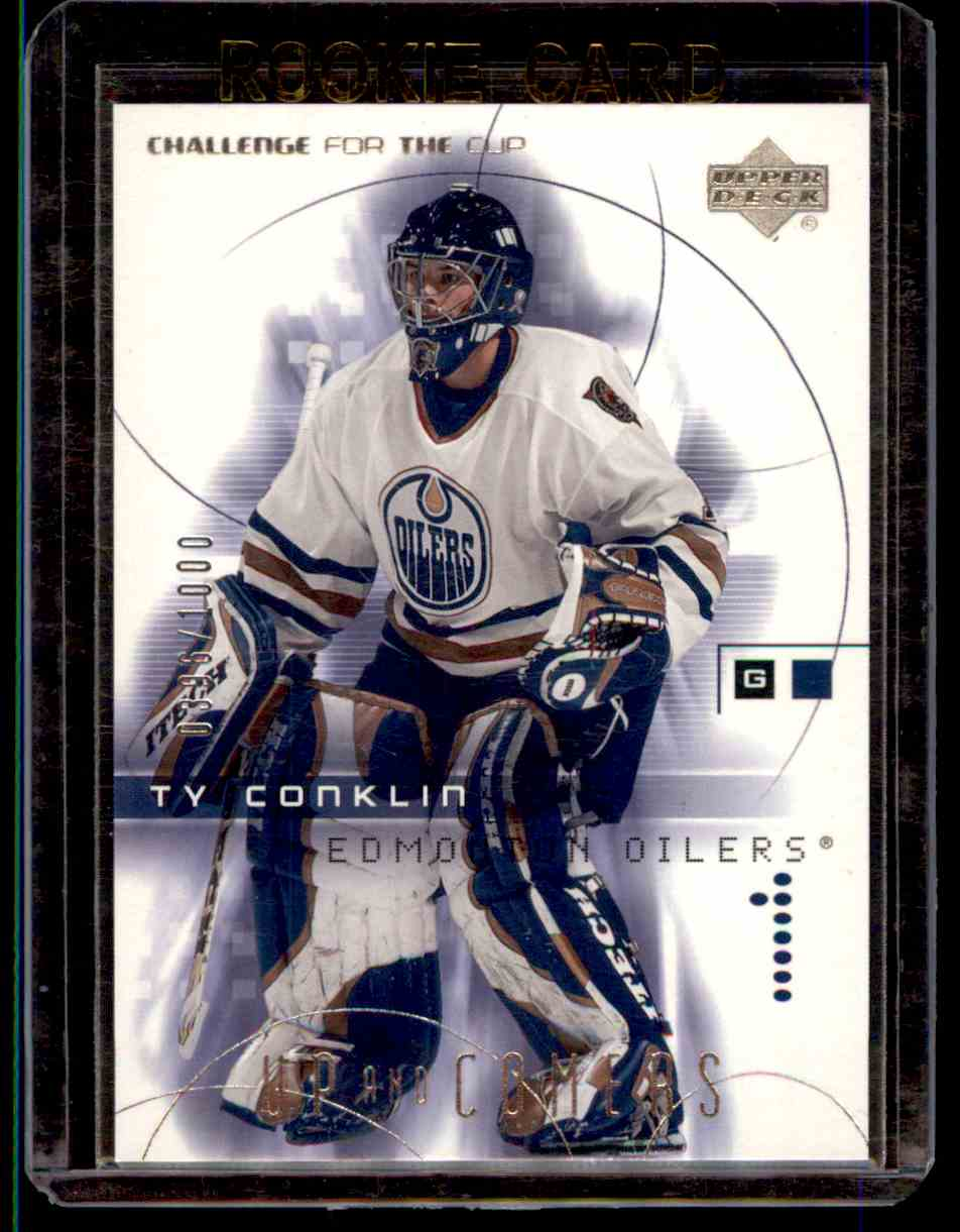 2001-02 Upper Deck Challenge For The Cup Ty Conklin #106 card front image