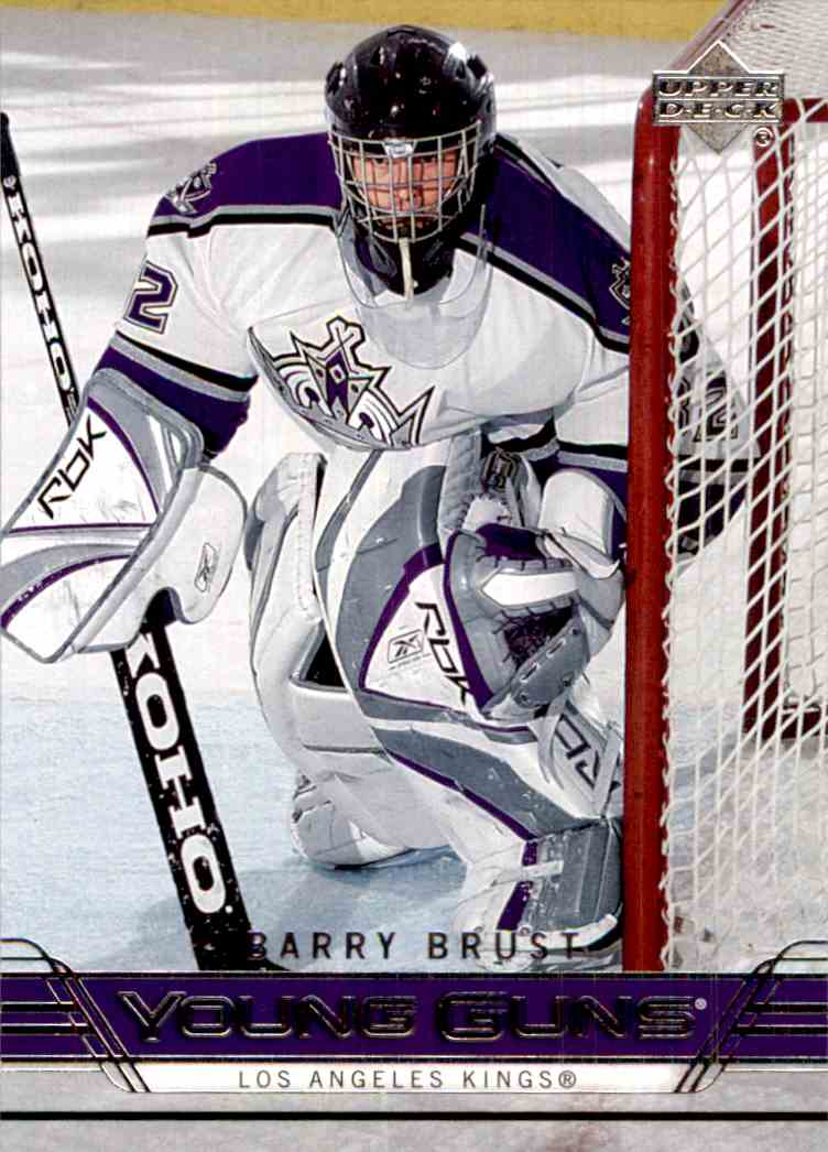2006-07 Upper Deck Young Guns Barry Brust #473 card front image