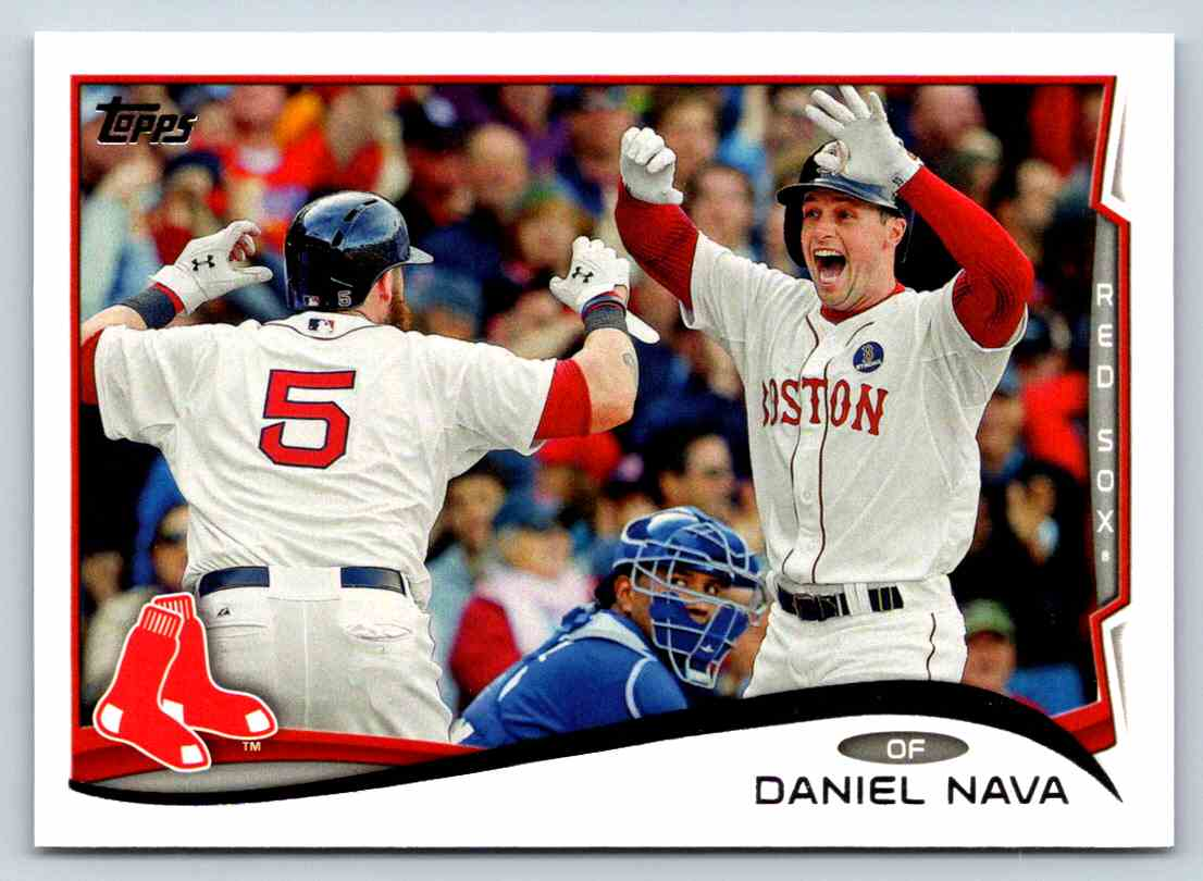 2014 Topps Daniel Nava #362 card front image