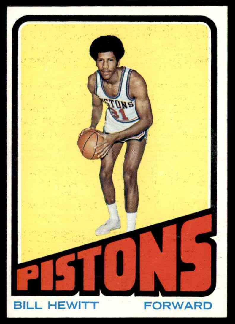 1972-73 Topps Bill Hewitt #107 card front image