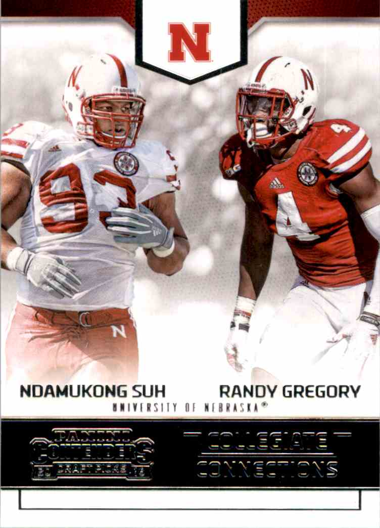2016 Panini Contenders Draft Picks Collegiate Connections Ndamukong Suh , Randy Gregory #13 card front image