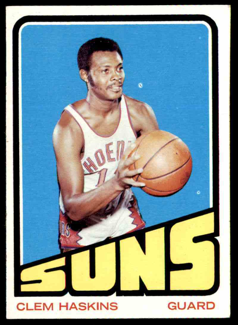1972-73 Topps Clem Haskins #72 card front image