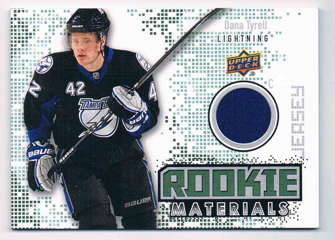 2010-11 Upper Deck UD Rookie Materials Dana Tyrell #RM-TY card front image