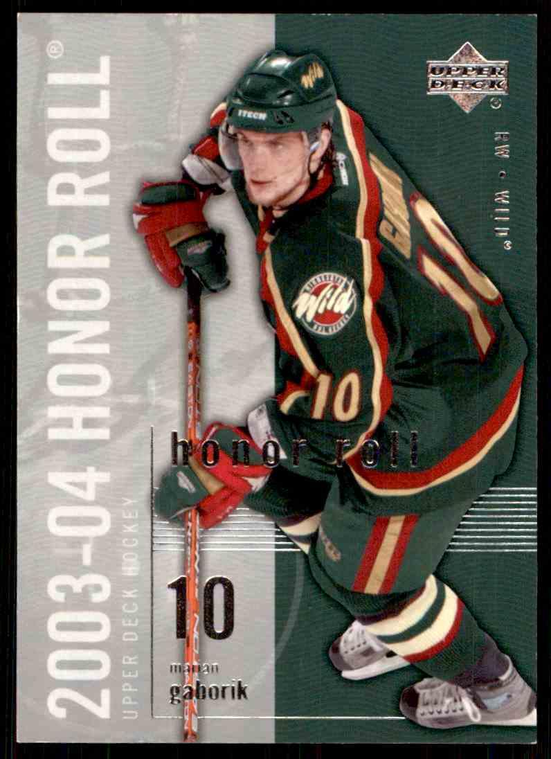 2003-04 Upper Deck Honor Roll Marian Gaborik #10 card front image