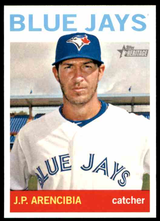 2013 Topps Heritage J.P. Arencibia #222 card front image