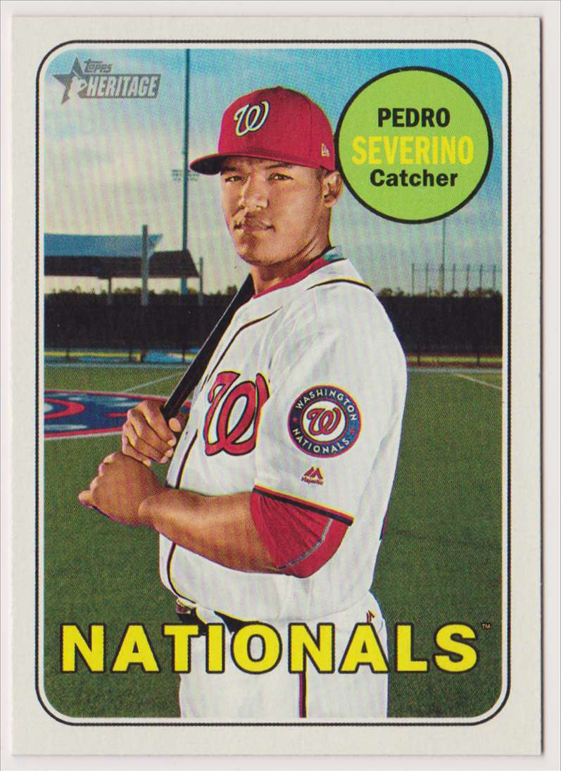 2018 Topps Heritage Pedro Severino #535 card front image