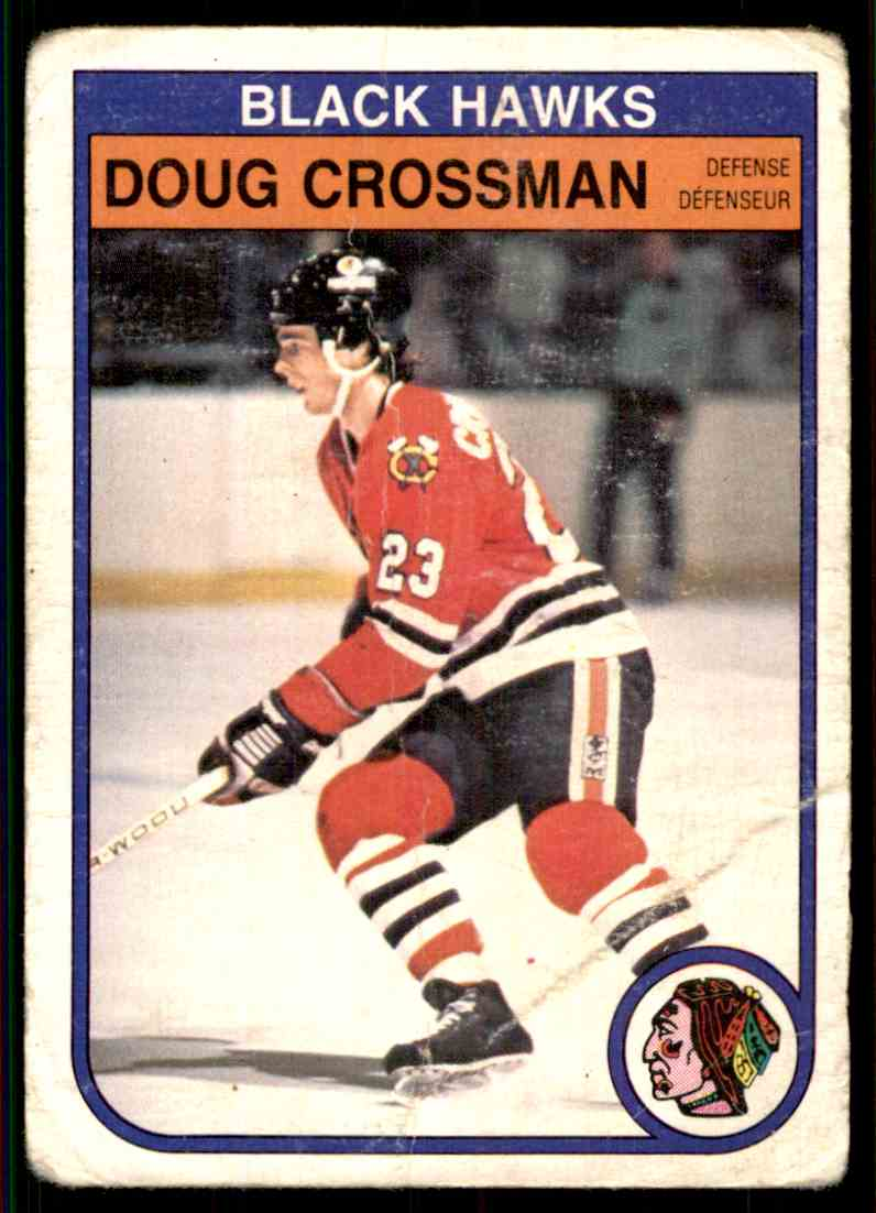 1982-83 O-Pee-Chee Doug Crossman #63 card front image