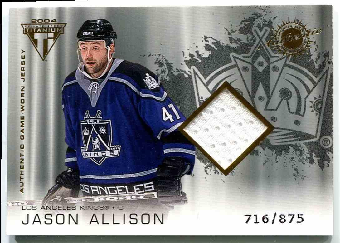 2003-04 Titanium Jsy Jason Allison #159 card front image