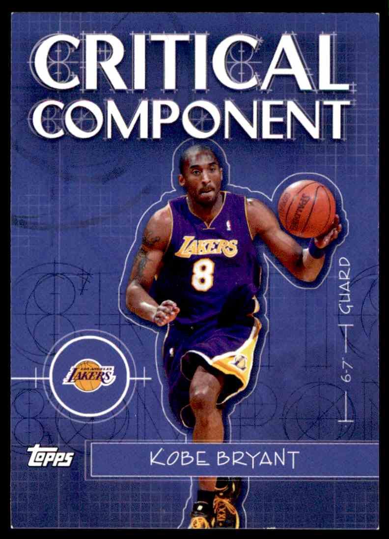 2005-06 Topps Kobe Bryant #13 card back image