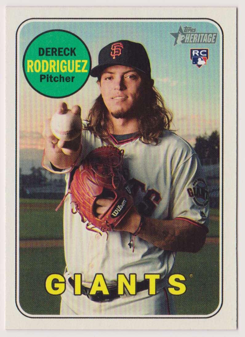 2018 Topps Heritage Dereck Rodriguez #590 card front image
