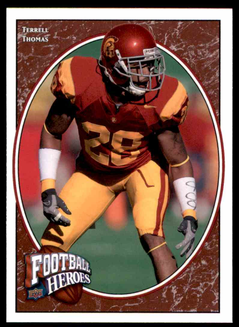 2008 Upper Deck Heroes Terrell Thomas RC #196 card front image