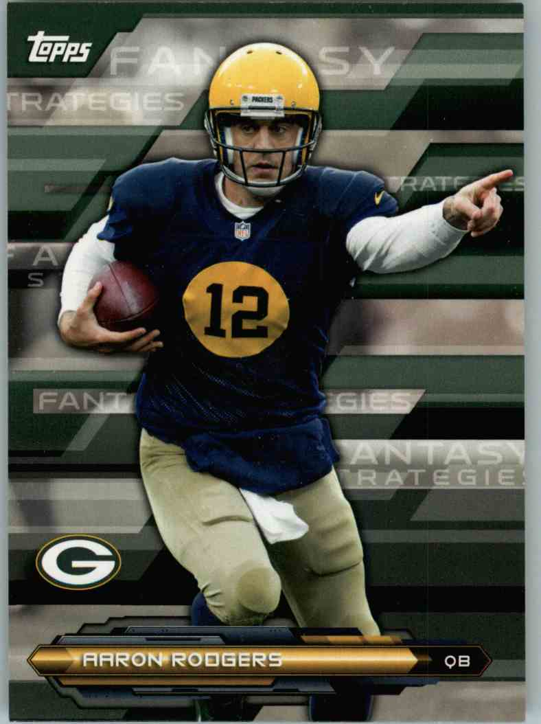 2014 Topps Aaron Rodgers #FFSAR card front image