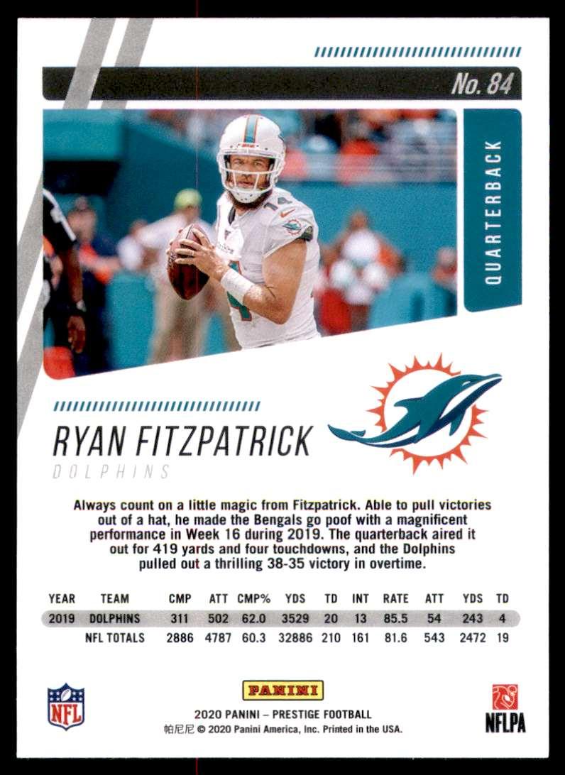 2020 Prestige Ryan Fitzpatrick #84 card back image