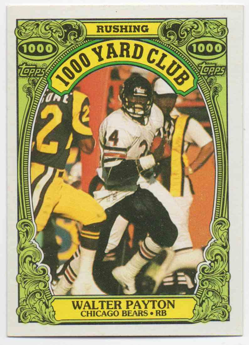 1986 Topps 1000 Yard Club Walter Payton #3 card front image