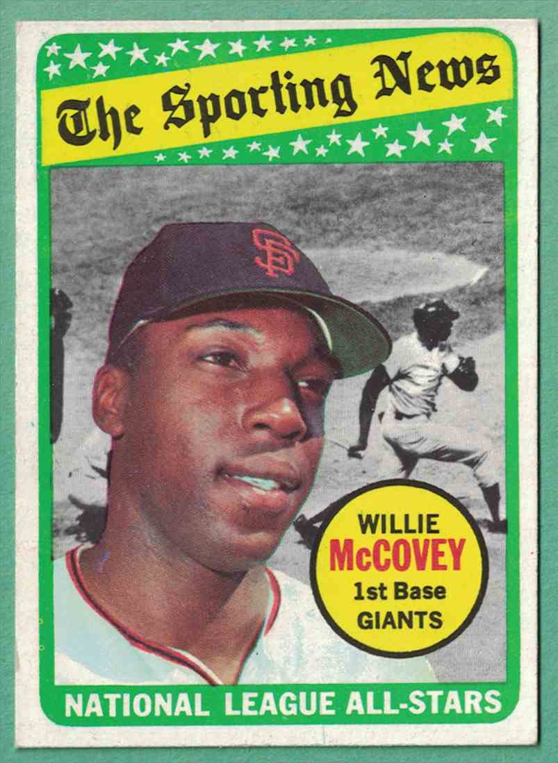 1969 Topps Willie McCovey All-Star Nm #416 card front image