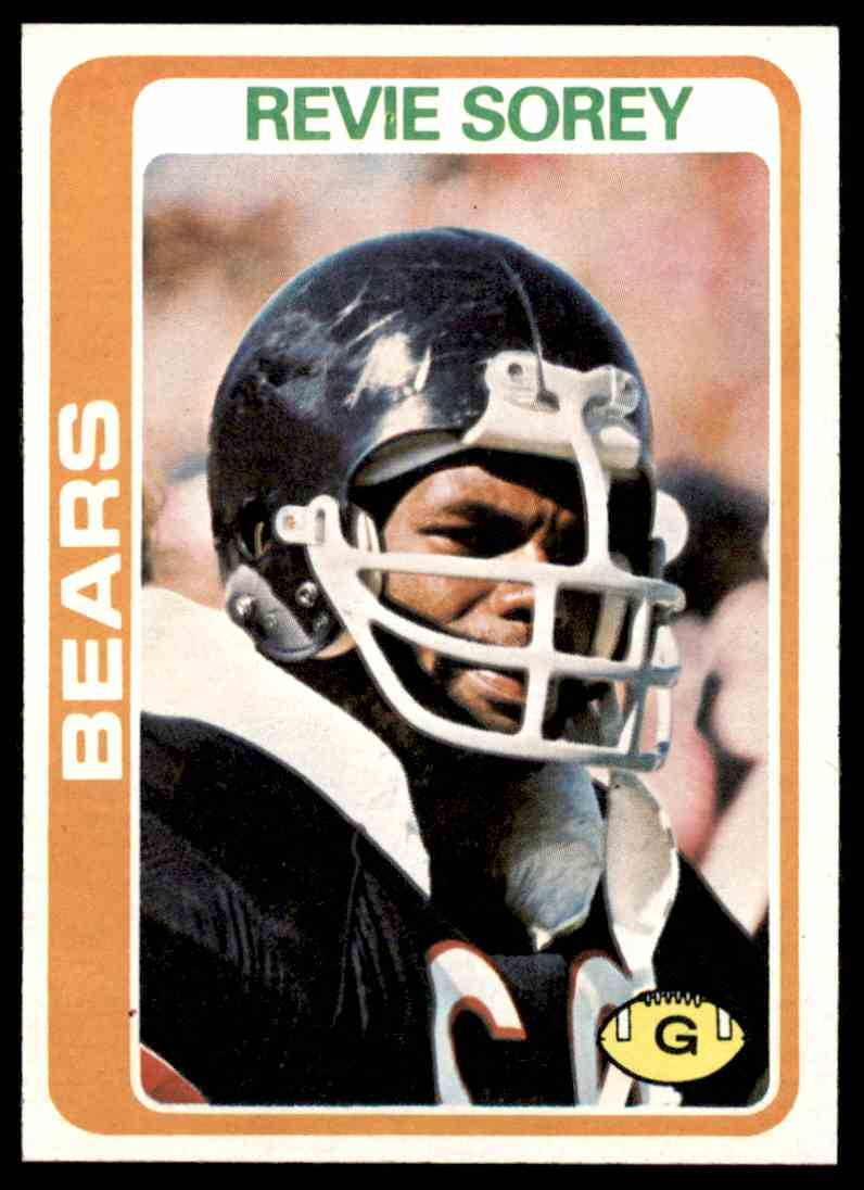 1978 Topps Football Revie Sorey #250 card front image