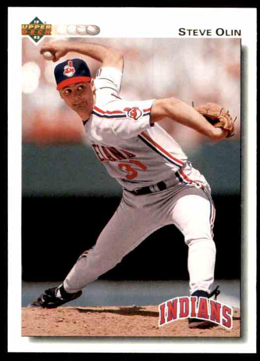 1992 Upper Deck Steve Olin #215 card front image