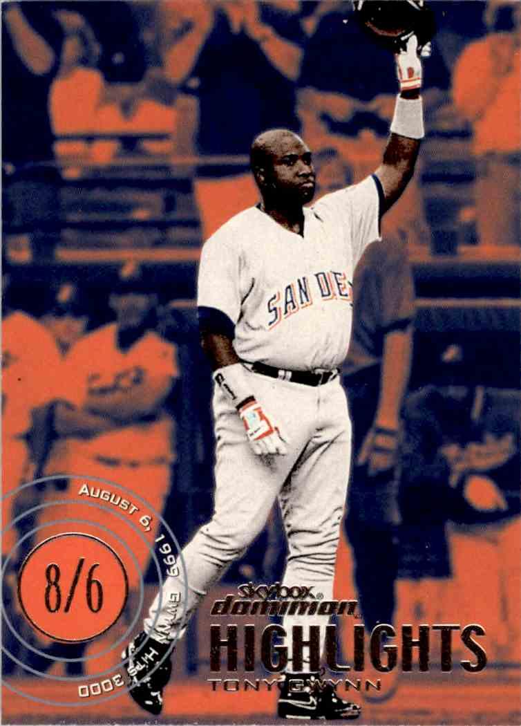 2000 Skybox Dominion Highlights Tony Gwynn #19 card front image
