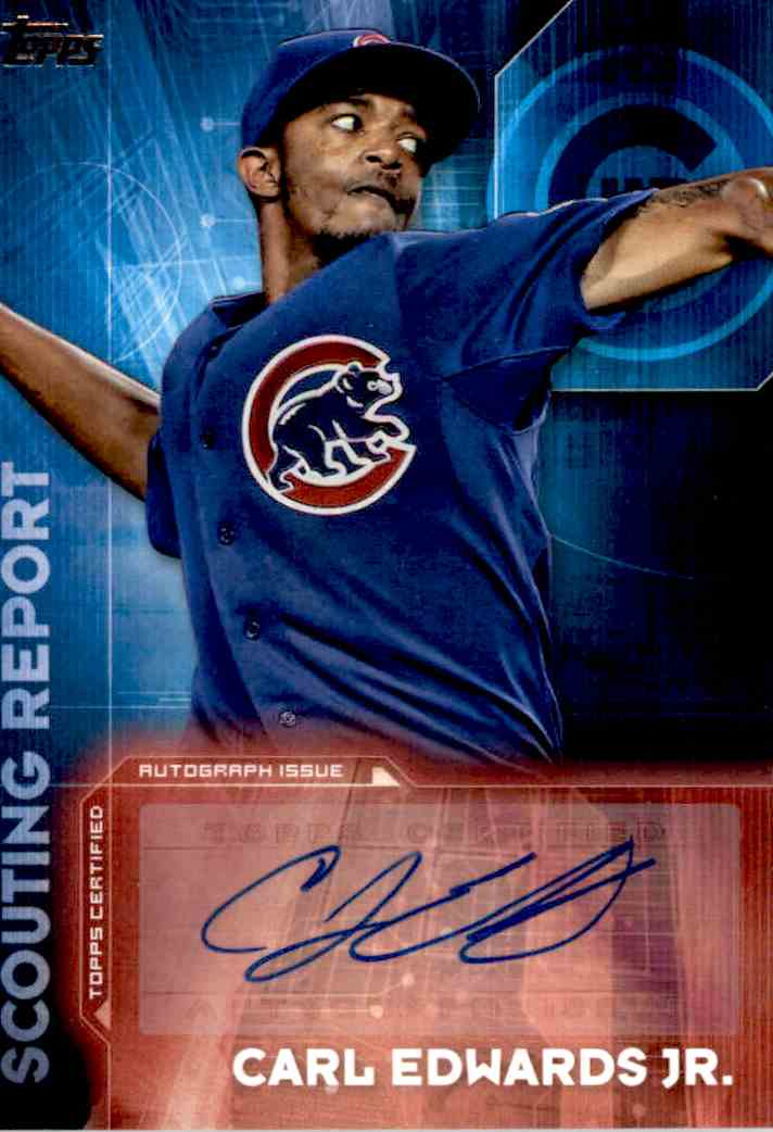 2015 Topps Carl Edwards JR. #SRA-CE card front image