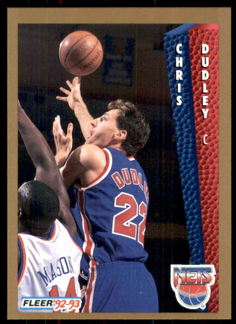 1992-93 Fleer Chris Dudley #387 card front image