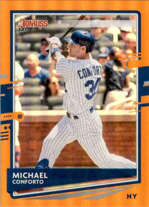 2020 Donruss Holo Orange Michael Conforto #63 card front image