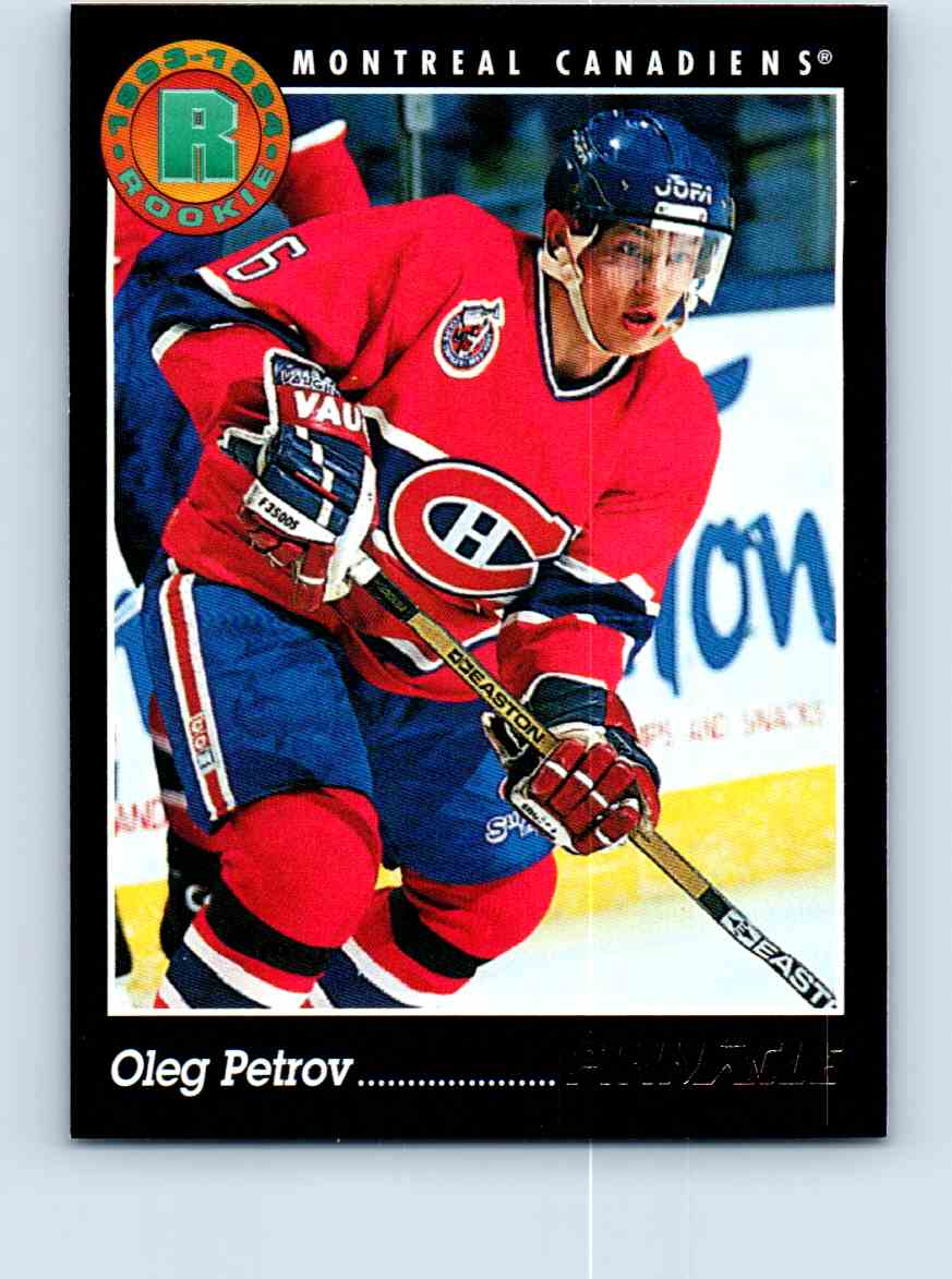 1993-94 Pinnacle Rookie Oleg Petrov #212 card front image