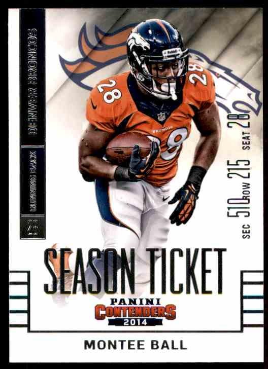 2014 Panini Contenders Montee Ball #14 card front image