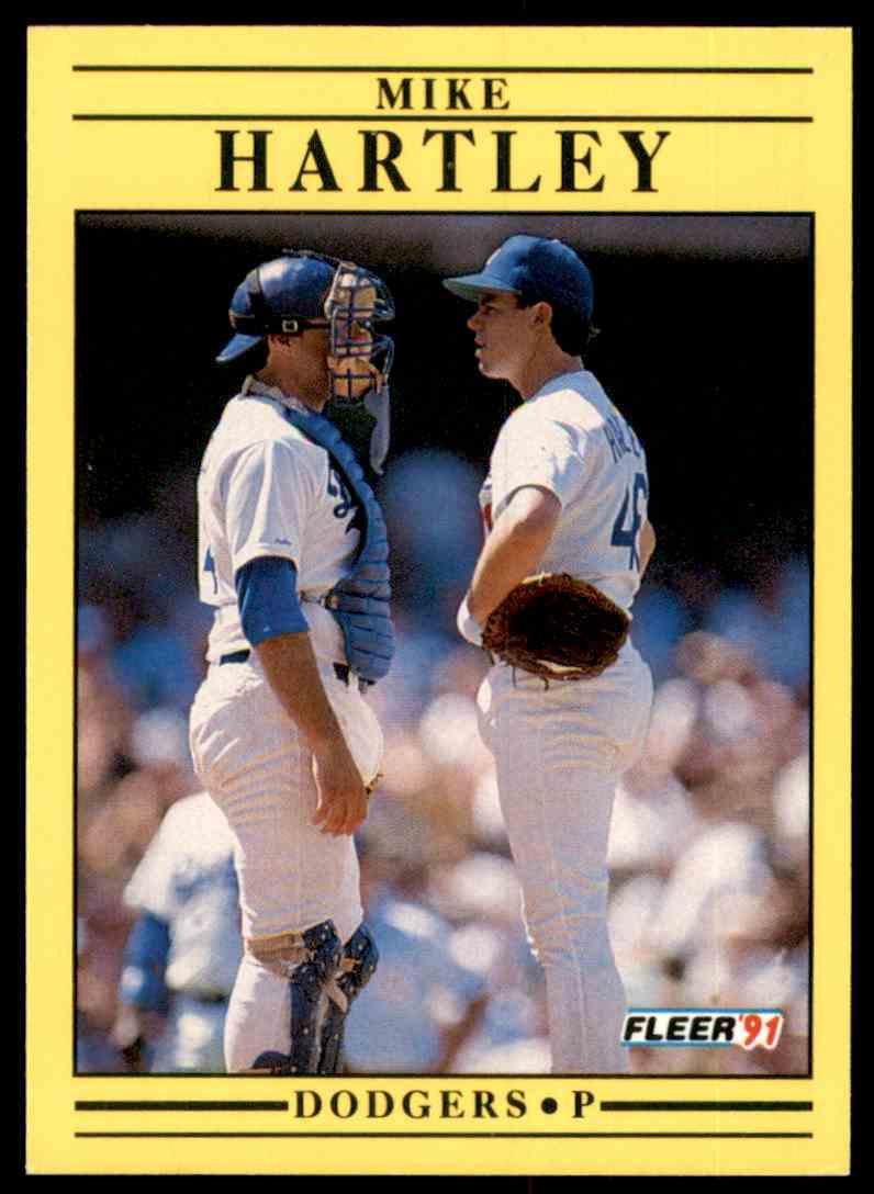 1991 Fleer Mike Hartley #205 card front image