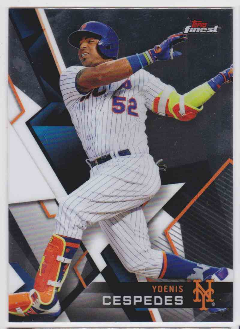 2018 Topps Finest Yoenis Cespedes #94 card front image