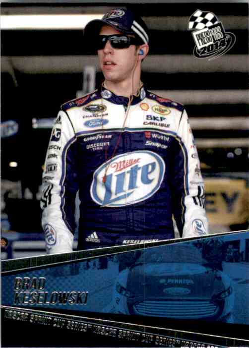 2014 Press Pass Brad Keselowski #20 card front image