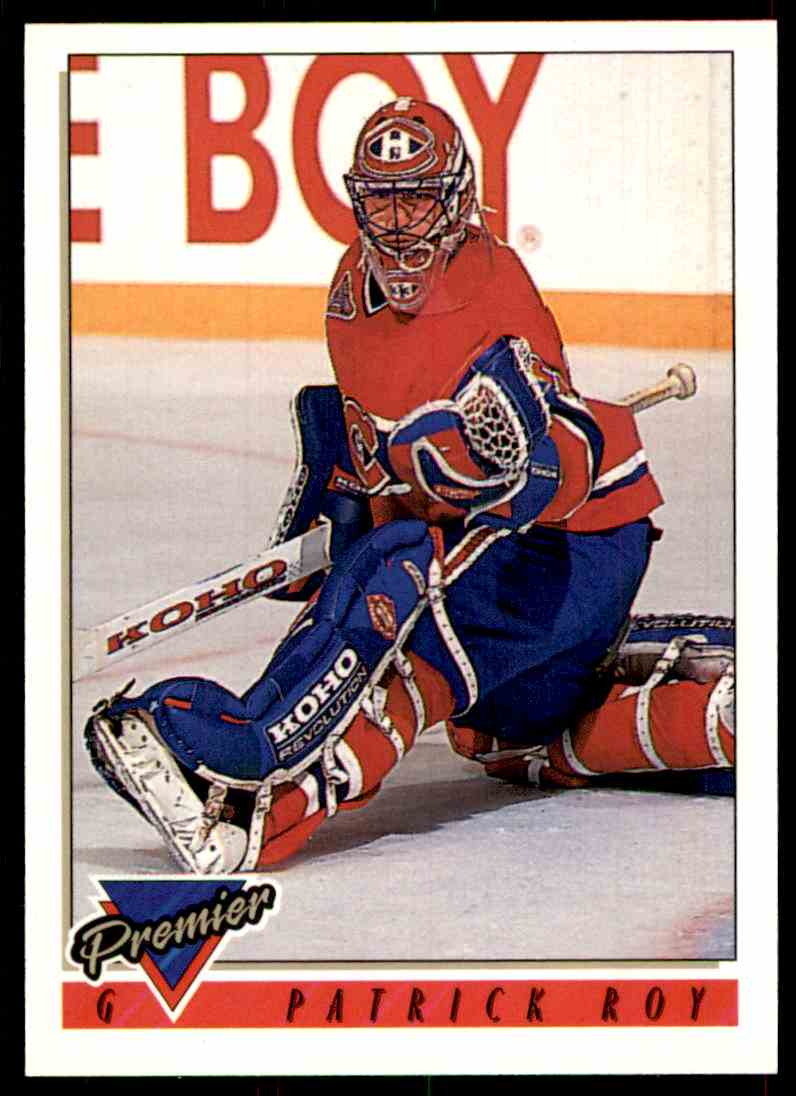1993-94 Topps Premier Patrick Roy #1 card front image