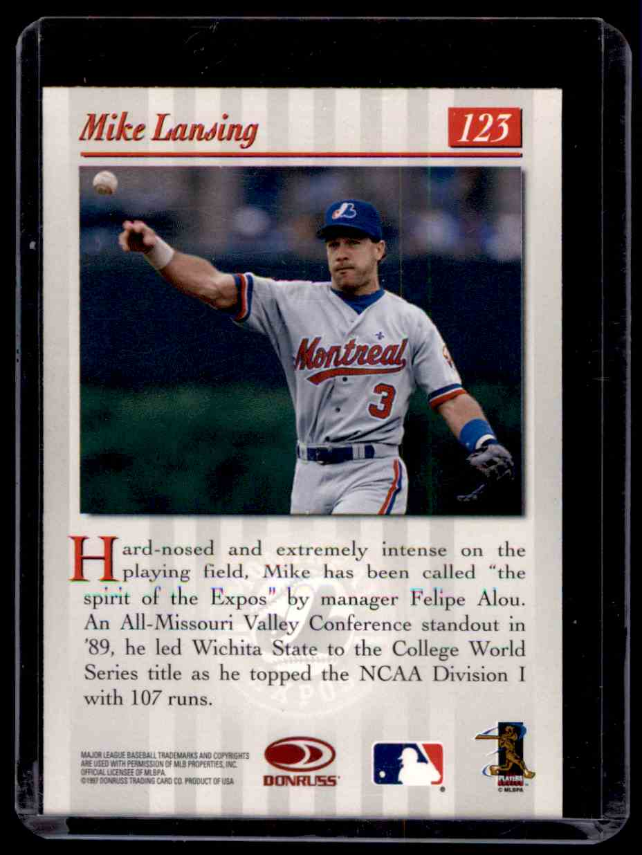 1997 Studio Silver Press Proofs Mike Lansing #123 card back image