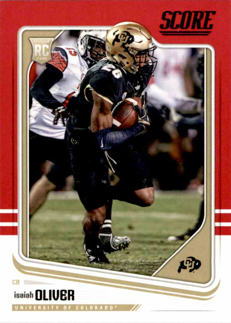 2018 Panini Score Red Parallel Isaiah Oliver #334 card front image