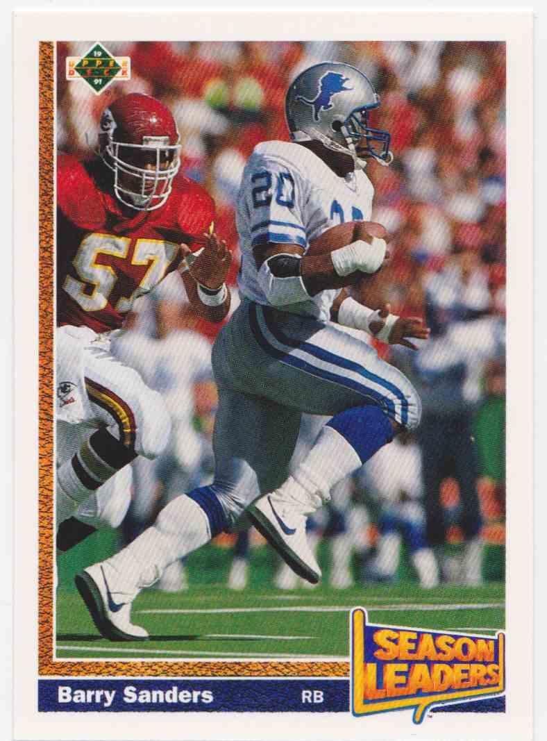 1991 Upper Deck Barry Sanders #401 card front image