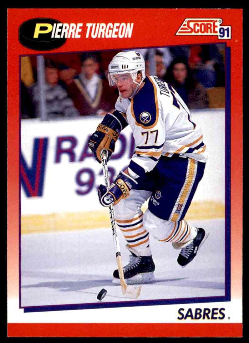 1991-92 Score Canadian Bilingual Pierre Turgeon #4 card front image
