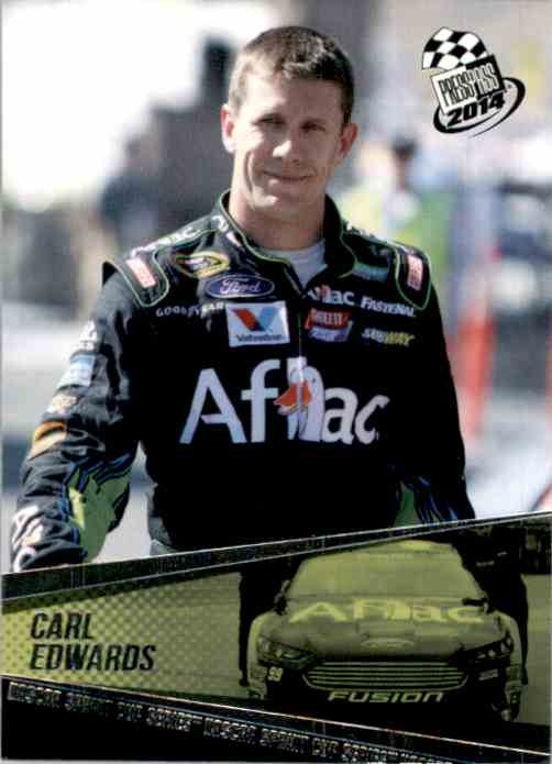 2014 Press Pass Carl Edwards #10 card front image