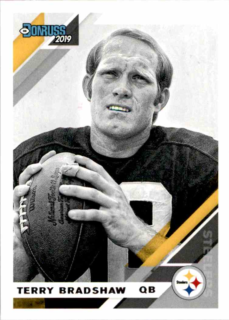 2019 Panini Donruss Terry Bradshaw #218V card front image