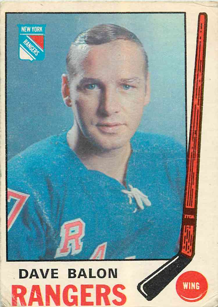 1969-70 Topps Dave Balon #191 card front image