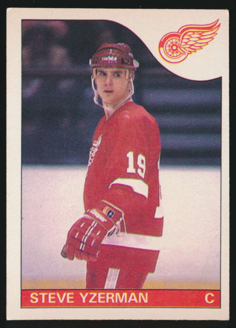 1985-86 OPC Steve Yzerman #29 card front image