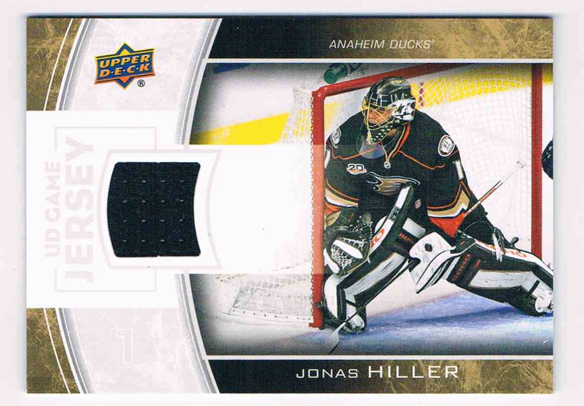 2013-14 Upper Deck Series Two Jonas Hiller #GJ-JH card front image