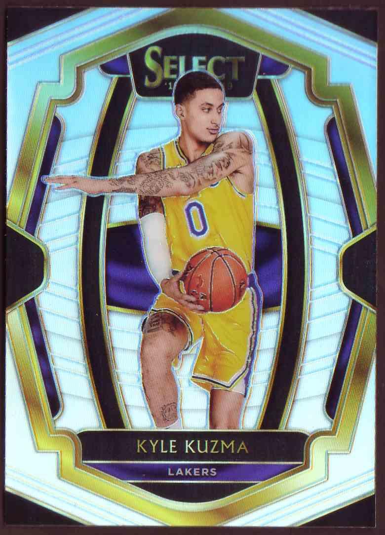 2018-19 Panini Select Premium Level Prizm Silver Kyle Kuzma #190 card front image