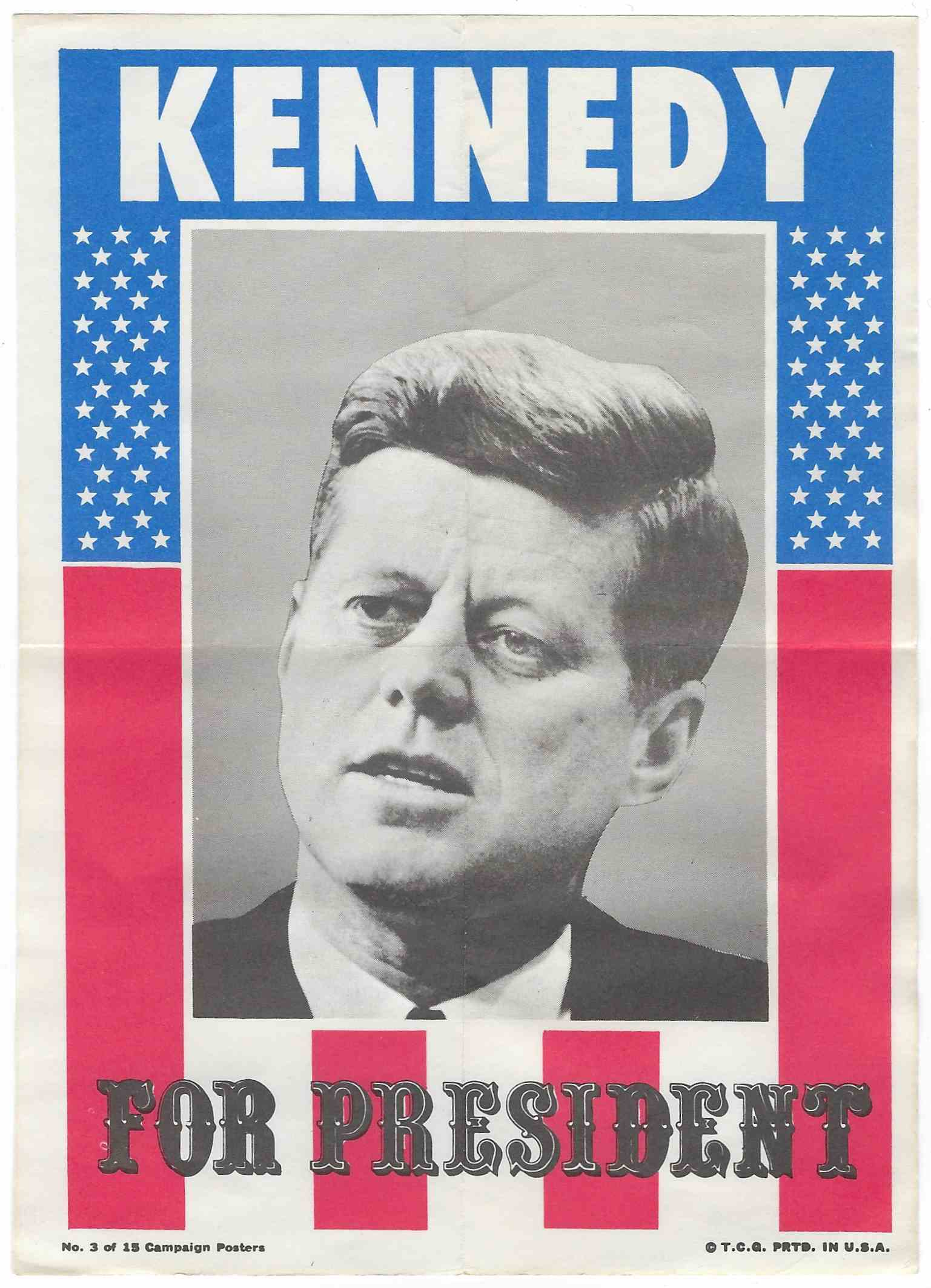 1972 Topps Campaign Posters Kennedy For President #3 card front image