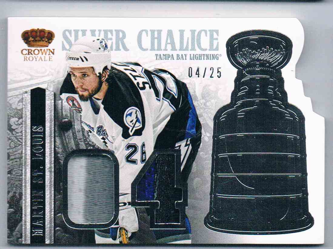 2013-14 Panini Crown Royale Super Chalice Dual Jersey Martin St-Louis #SI-MSL card front image