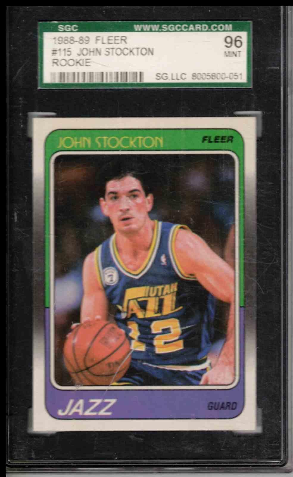 1989 Fleer John Stockton ##115 card front image