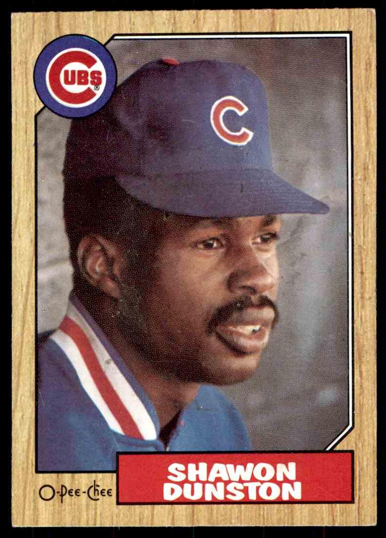 1987 O-Pee-Chee Shawon Dunston #346 card front image