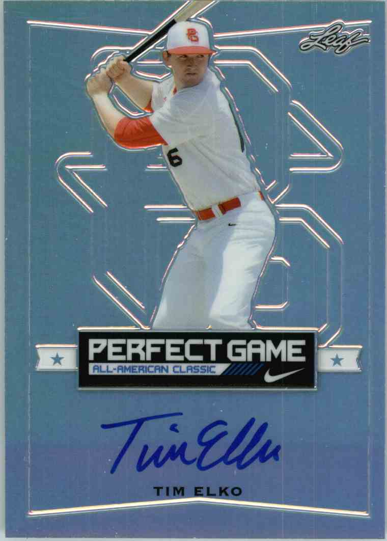 2016 Leaf Perfect Game Tim Elko #BA-TEI card front image