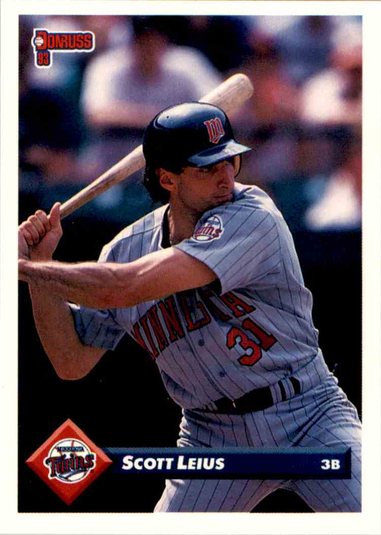 1993 Donruss Scott Leius #369 card front image