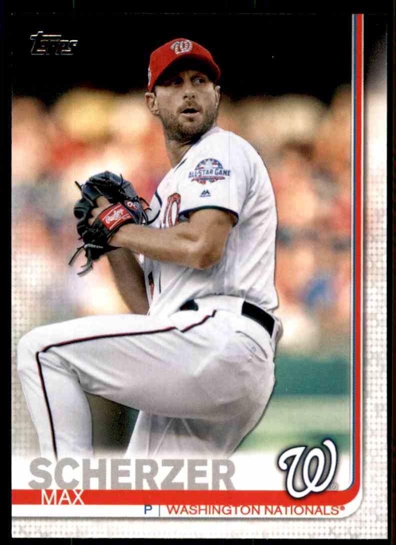 2019 Topps Max Scherzer #344 card front image