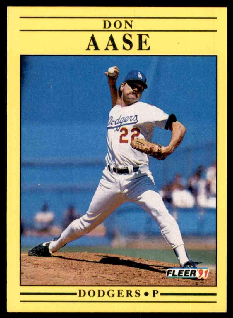 1991 Fleer Don Aase #193 card front image