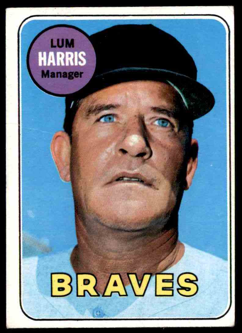 1969 Topps Lum Harris #196 card front image